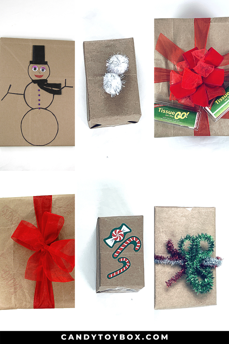 36 ways to wrap a gift with brown paper.