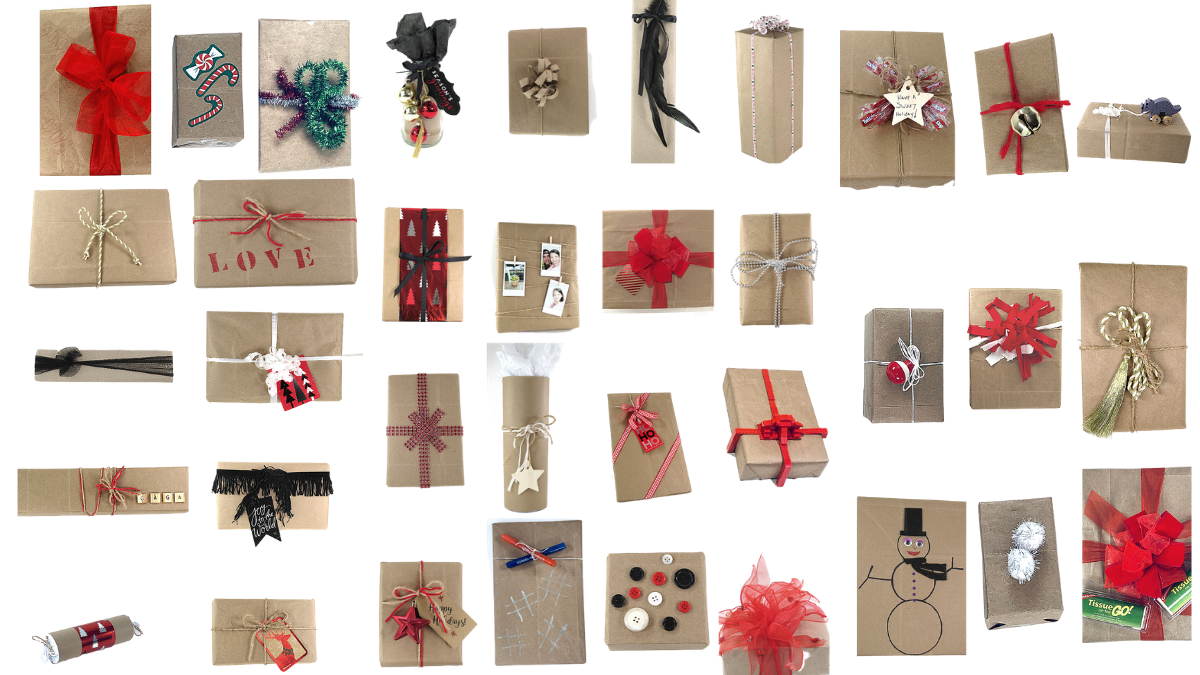 36 Ways to Wrap a Gift with Brown Paper