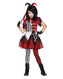 Scary Harley Quinn Girls Costume