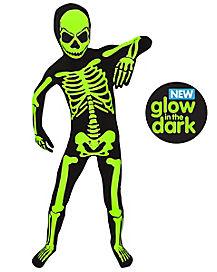 Glow in The Dark Skeleton Kids Costume