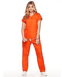 Convict Jail Bird Costume